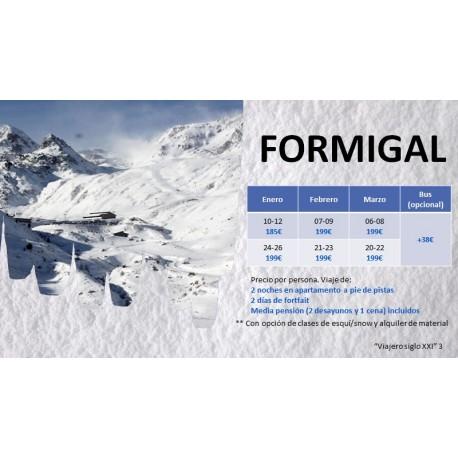 Calendario Viajes de esqui a FORMIGAL